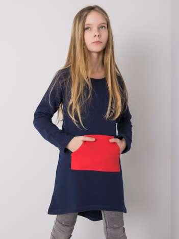 Granatowa tunika dla dziewczynki DODO KIDS