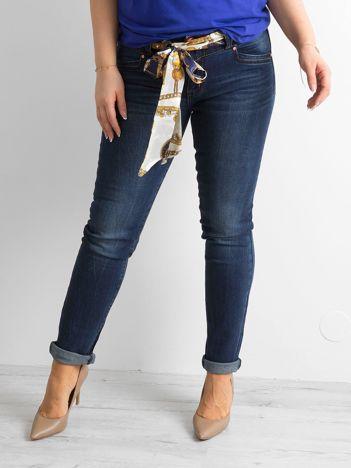 Granatowe dżinsowe spodnie PLUS SIZE