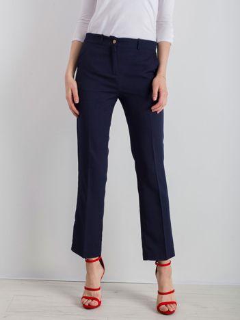Granatowe eleganckie spodnie