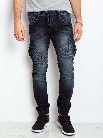 Granatowe jeansy Bronx