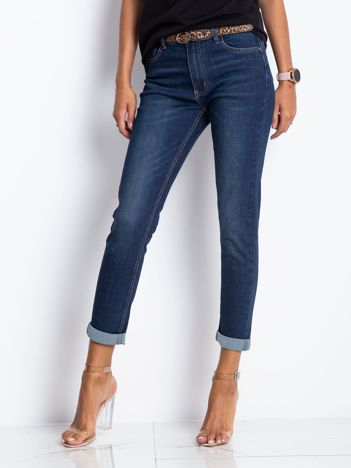 Granatowe jeansy Suspicious