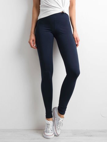 Granatowe legginsy Basic
