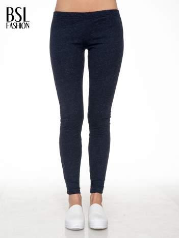 Granatowe melanżowe legginsy