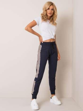 Granatowe spodnie Chiara FOR FITNESS
