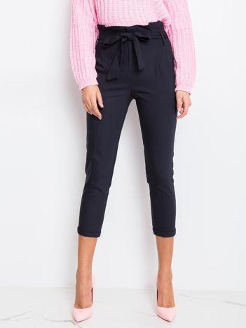 Granatowe spodnie Hack