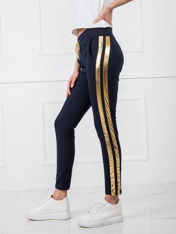 Granatowe spodnie Sibille