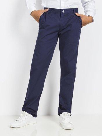 Granatowe spodnie męskie Vermont