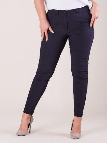 Granatowe spodnie slim fit PLUS SIZE