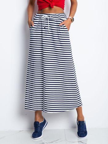 Granatowo-biała spódnica Escargot