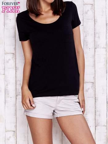 Granatowy gładki t-shirt basic