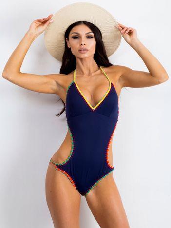 Granatowy kostium kąpielowy Hillsides