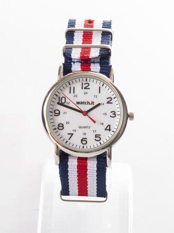 Granatowy męski zegarek na rękę