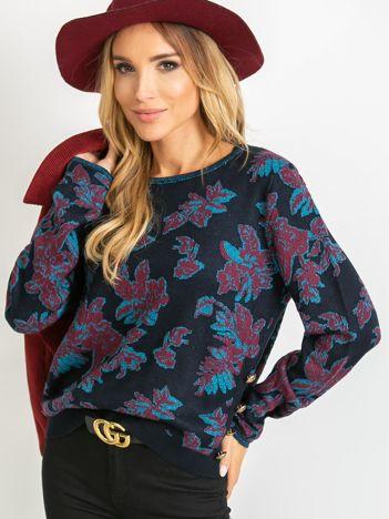 Granatowy sweter Miley