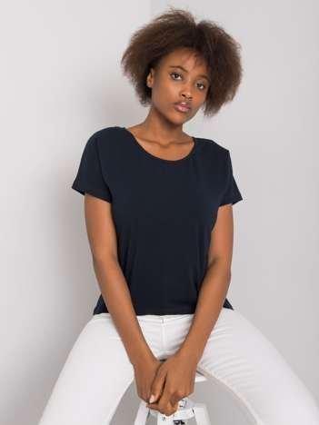 Granatowy t-shirt Flow