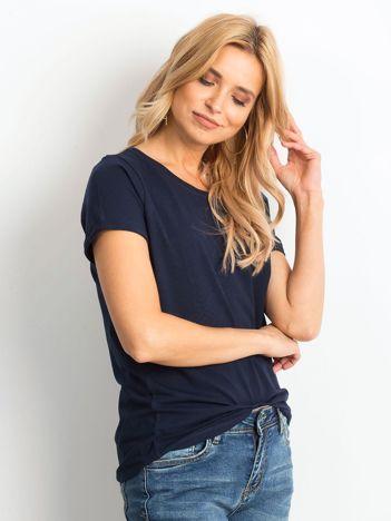 Granatowy t-shirt Transformative