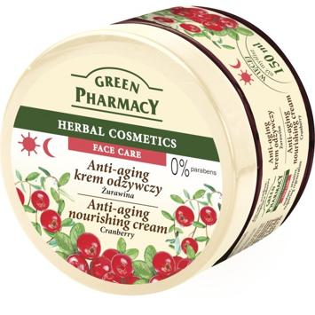 Green Pharmacy Herbal Cosmetics Krem do twarzy przeciwstarzeniowy z żurawiną 150 ml