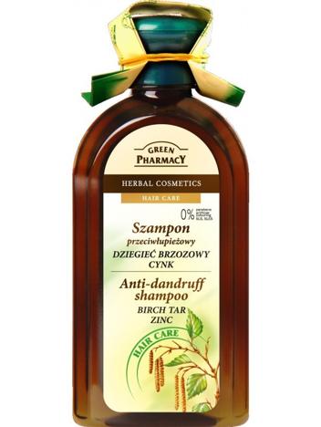 Green Pharmacy Szampon do włosów przeciwłupieżowy Dziegieć, Cynk 350 ml