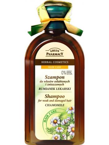 Green Pharmacy Szampon do włosów zniszczonych Rumianek 350 ml