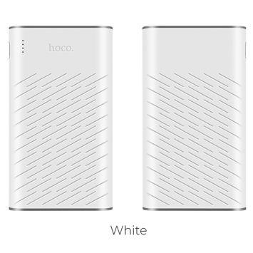 """HOCO B31 Powerbank """"REGE""""o mocy 20000 mAh z podwójnym USB 5V2.1A i diodą LED 330g Kolor biało-szary."""