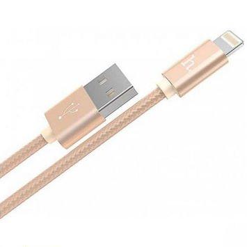 HOCO X2 Wytrzymały kabel Lightning do urządzeń Apple Szybkie ładowanie Nylonowy oplot Długość 1m Kolor złoty