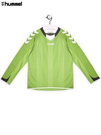 HUMMEL Zielona bluzka chłopięca w sportowym stylu