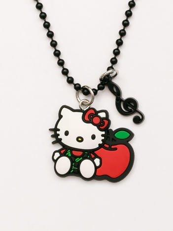Hello Kitty Czarny naszyjnik kulkowy z zawieszkami