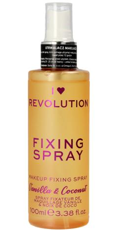 I Heart Revolution Fixing Spray Mgiełka utrwalająca makijaż Vanilla & Coconut 100ml