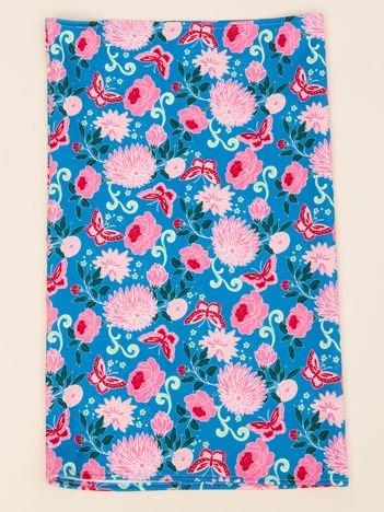 INCA Komin niebieski w kwiaty