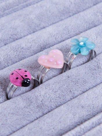 INCA Komplet pierścionków (z regulacją) dla dziewczynki 3 szt