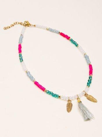 INCA Naszyjnik kolorowy z chwostem dla dziewczynki