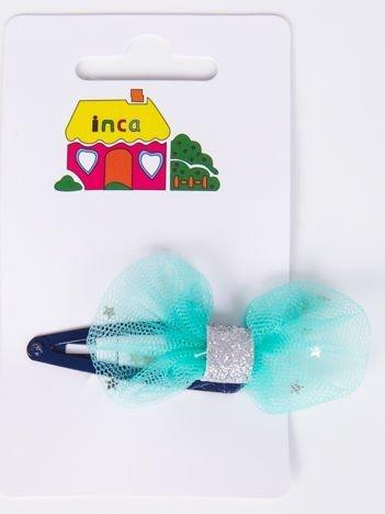 INCA Spinka granatowa z miętową kokardką