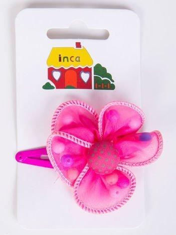INCA Spinka różowa z kwiatem ozdobnym