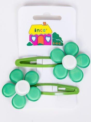 INCA Spinki do włosów zielone 5 cm Komplet 2 szt.