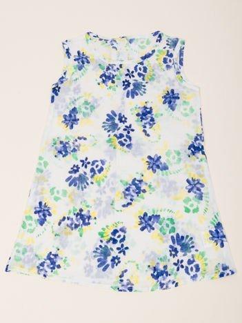 INCA Sukienka biała dziewczęca w Kwiatki