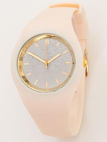 JELLY cielisty zegarek damski z tarczą GLITTER