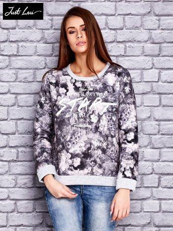 JUST LOU Szara bluza z motywem floral print