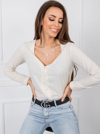 Jasnobeżowa bluzka Daisy RUE PARIS