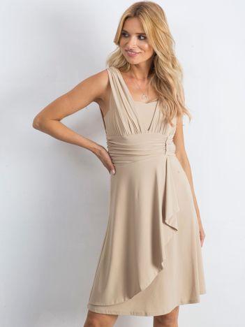 Jasnobeżowa sukienka Decorative
