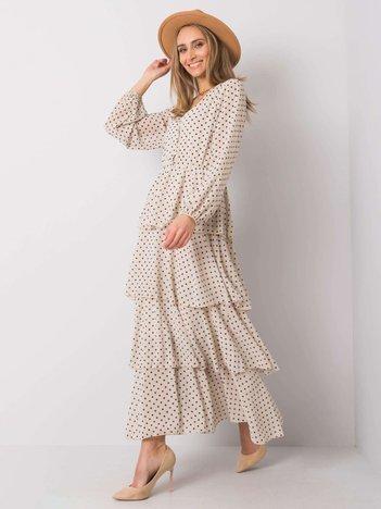Jasnobeżowa sukienka Sienna OCH BELLA