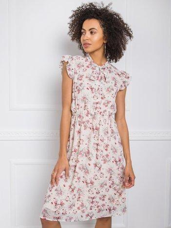 Jasnobeżowa sukienka Smile RUE PARIS