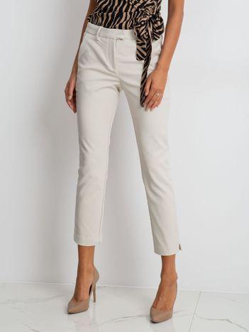 Jasnobeżowe spodnie Classy