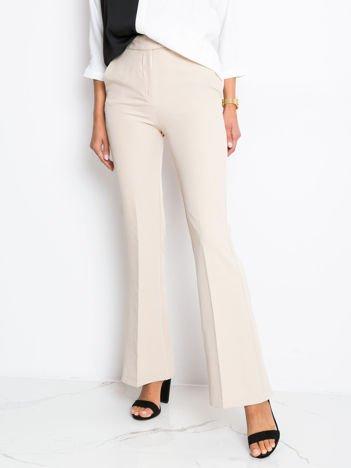 Jasnobeżowe spodnie Fancy