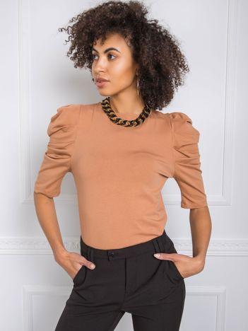 Jasnobrązowa bluzka Alessandra