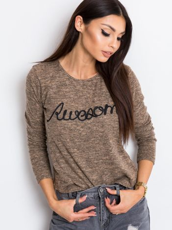 Jasnobrązowa bluzka Awesome