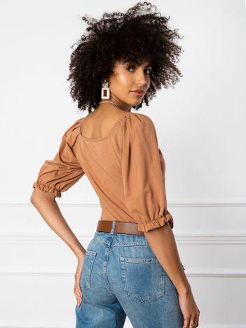 Jasnobrązowa bluzka Elodie