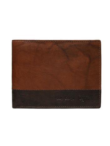 Jasnobrązowy portfel bez zapięcia