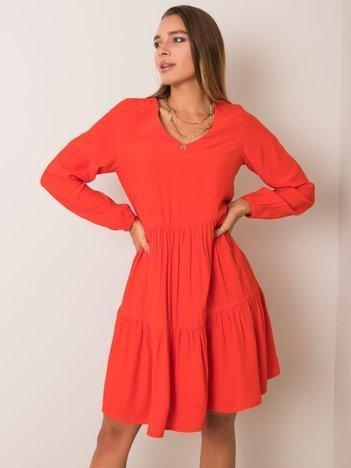 Jasnoczerwona sukienka Kassie SUBLEVEL