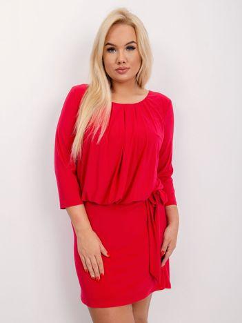 Jasnoczerwona sukienka plus size Ashe