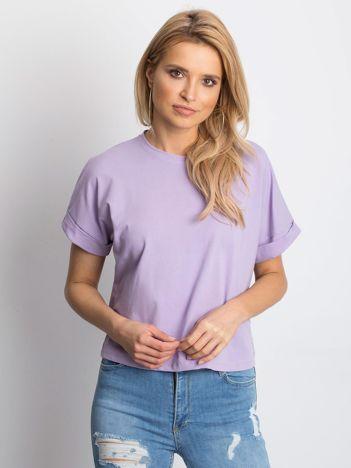 Jasnofioletowy t-shirt Woodland