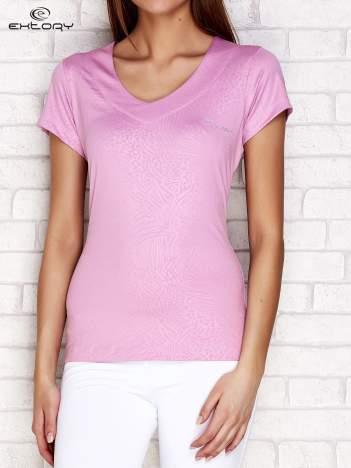 Jasnofioletowy t-shirt o tłoczonej fakturze